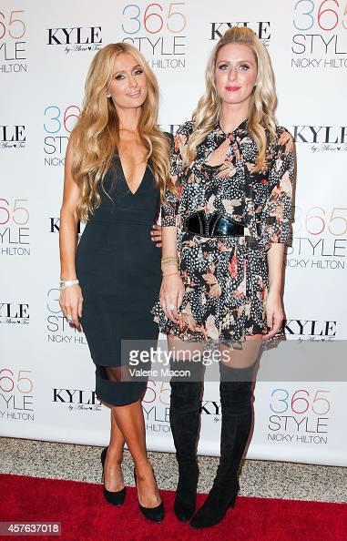 Paris Hilton and Nicky Hilton attend Nicky Hilton's '365 Style' book party for the filming of 'The Real Housewives of Beverly Hills' at Kyle by Alene...