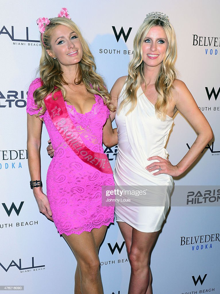 Paris Hilton and Nicky Hilton celebrate Nicky's bachelorette party at Wall at the W Hotel on June 6, 2015 in Miami Beach, Florida.