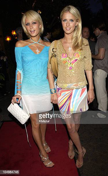 Paris Hilton and Nicky Hilton during amfAR's 11th Annual Boathouse Rocks at Tavern on the Green at Tavern on the Green in Central Park in New York...
