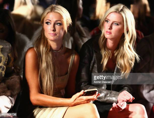 Paris Hilton and Nicky Hilton Rothschild attend the Dennis Basso collection during New York Fashion Week The Shows at Gallery 1 Skylight Clarkson Sq...