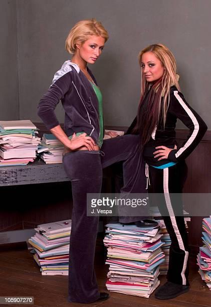 Paris Hilton and Nicole Richie during 2004 Sundance Film Festival Paris Hilton and Nicole Ritchie Portraits at HP Portrait Studio in Park City Utah...