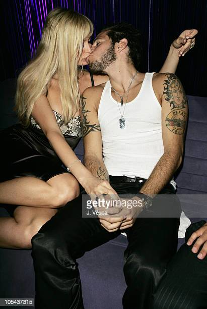 Paris Hilton and Paris Latsis during Lindsay Lohan's 2005 MTV Movie Award After Party at The Standard Hotel in Los Angeles California United States