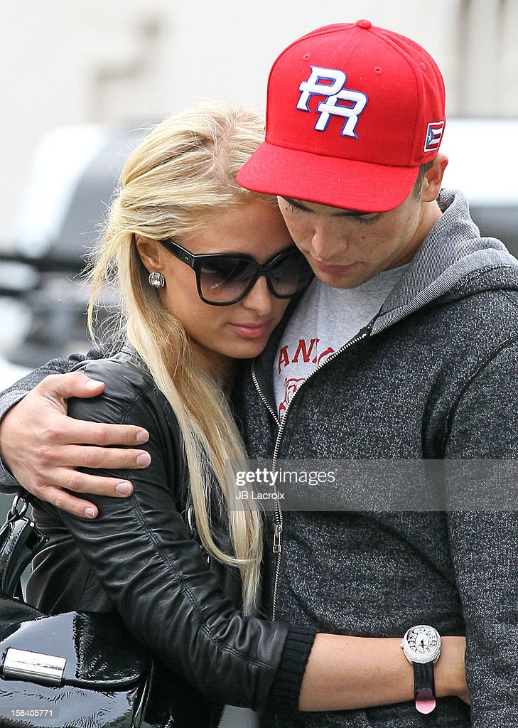 Paris Hilton and River Viiper are seen shopping in Beverly Hills on December 15, 2012 in Los Angeles, California.