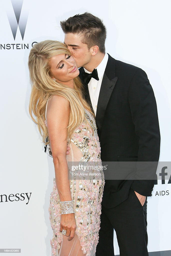 Paris Hilton and River Viiperi arrive at amfAR's 20th Annual Cinema Against AIDS at Hotel du Cap-Eden-Roc on May 23, 2013 in Cap d'Antibes, France.