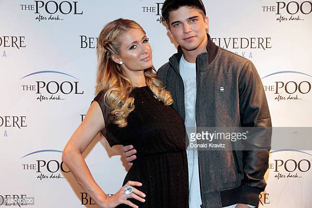 Paris Hilton and River Viiperi attend an evening hosted by Paris Hilton at The Pool at Harrah's Resort on May 4 2013 in Atlantic City New Jersey