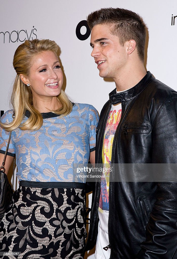 Paris Hilton and River Viiperi attend OUT magazines celebration of LA fashion week with OUT fashion benefiting the AIDS Healthcare Foundation at Pacific Design Center on March 7, 2013 in West Hollywood, California.