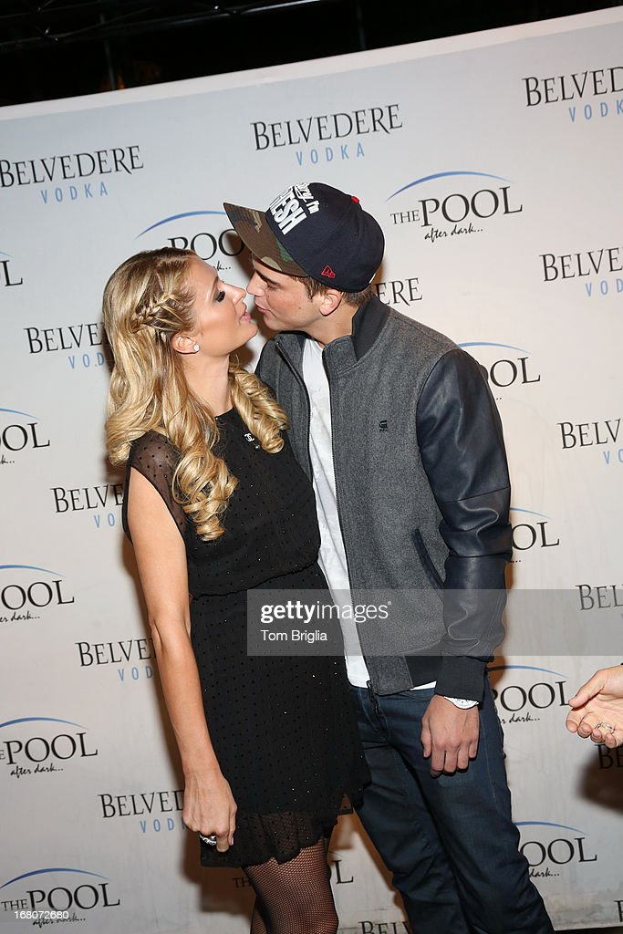 Paris Hilton and River Viiperi attend The Pool After Dark's Six year anniversary party at Harrah's Resort on Saturday May 4, 2013 in Atlantic City, New Jersey.
