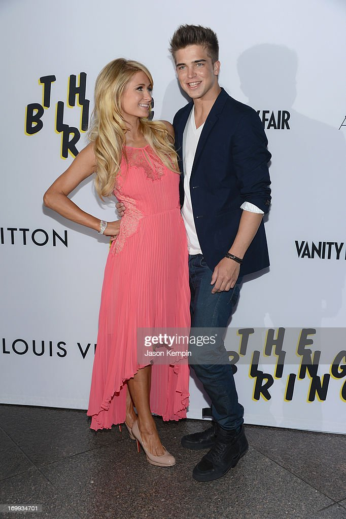<a gi-track='captionPersonalityLinkClicked' href=/galleries/search?phrase=Paris+Hilton&family=editorial&specificpeople=171761 ng-click='$event.stopPropagation()'>Paris Hilton</a> and <a gi-track='captionPersonalityLinkClicked' href=/galleries/search?phrase=River+Viiperi&family=editorial&specificpeople=8600726 ng-click='$event.stopPropagation()'>River Viiperi</a> attend the premiere of A24's 'The Bling Ring' at Directors Guild Of America on June 4, 2013 in Los Angeles, California.