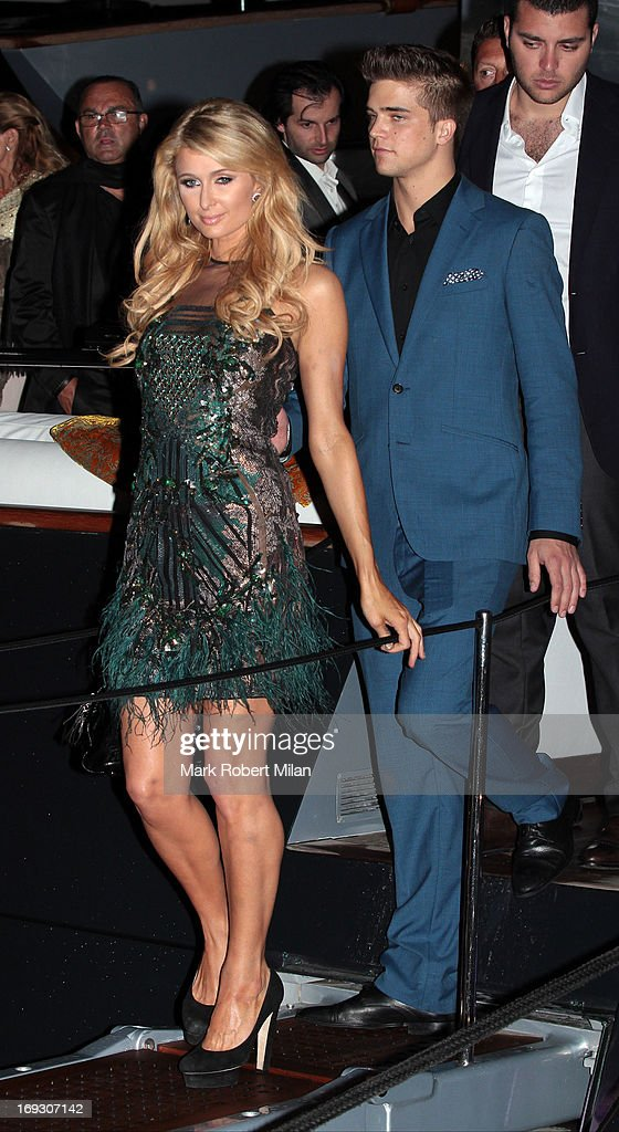 Paris Hilton and River Viiperi attending the Roberto Cavalli the Yacht Party during The 66th Annual Cannes Film Festival on May 22, 2013 in Cannes, France.