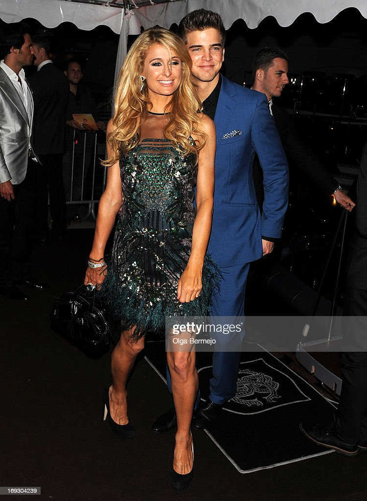 Paris Hilton and River Viiperi attends the 66th Annual Cannes Film Festival on May 22, 2013 in Cannes, France.