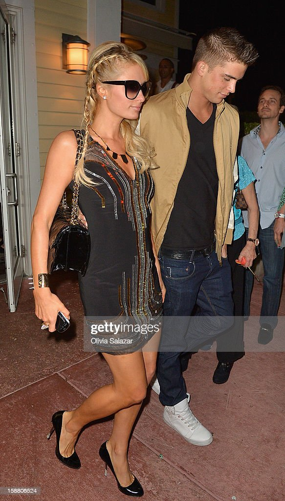 Paris Hilton and River Viiperi sighting at Prime 112 Steakhouse on December 30, 2012 in Miami, Florida.