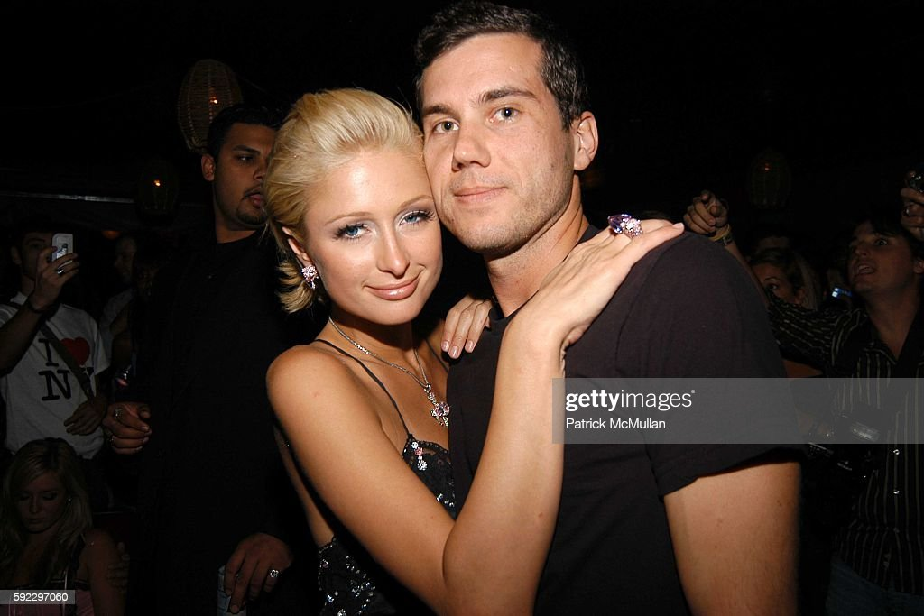 Paris Hilton and Scott Sartiano attend MAC Cosmetics Hosts Brazilian Fete for Rosa Cha Spring 2006 Collection at The Cabanas at Maritime Hotel on...
