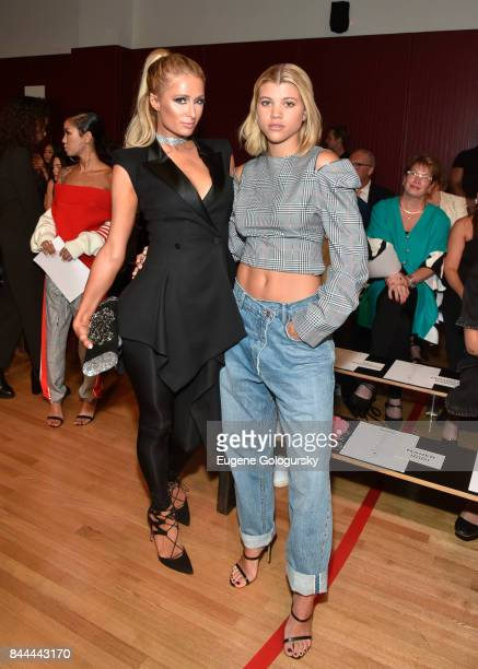Paris Hilton and Sofia Richie attend the Monse fashion show during New York Fashion Week The Shows on September 8 2017 in New York City