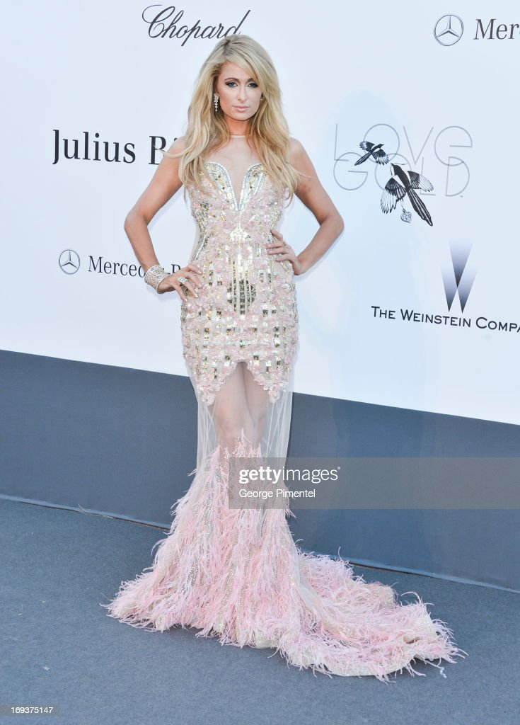 Paris Hilton arrives at amfAR's 20th Annual Cinema Against AIDS at Hotel du Cap-Eden-Roc on May 23, 2013 in Cap d'Antibes, France.