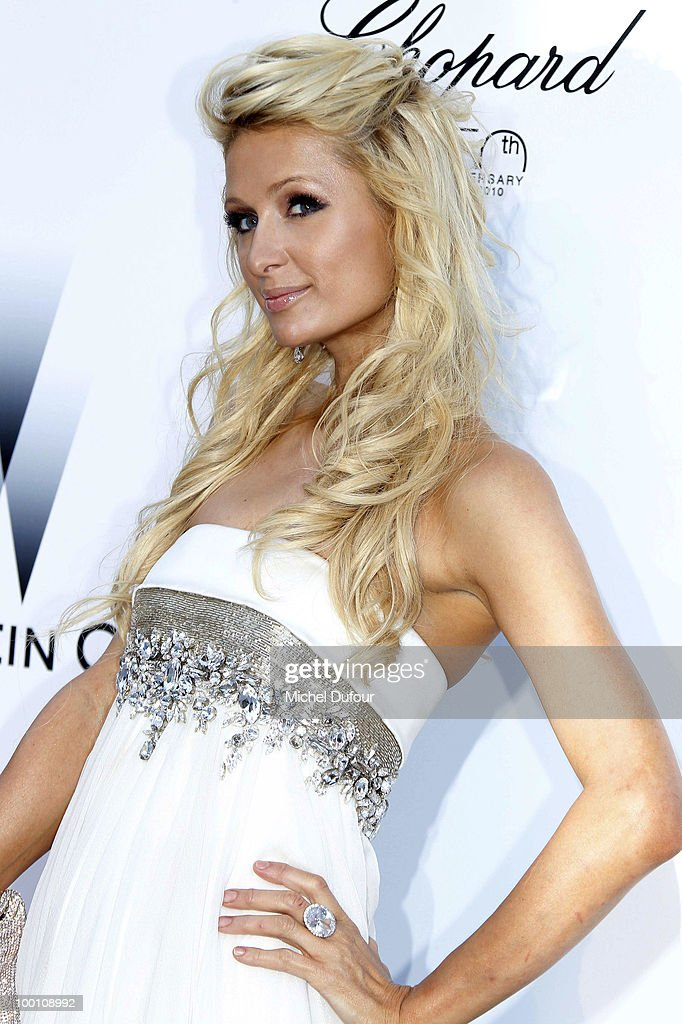 Paris Hilton arrives at amfAR's Cinema Against AIDS 2010 benefit gala at the Hotel du Cap on May 20, 2010 in Cannes, France.