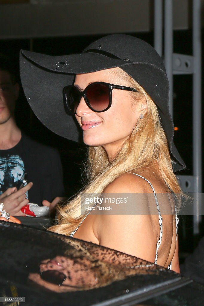 <a gi-track='captionPersonalityLinkClicked' href=/galleries/search?phrase=Paris+Hilton&family=editorial&specificpeople=171761 ng-click='$event.stopPropagation()'>Paris Hilton</a> arrives at Nice airport during the 66th annual Cannes Film Festival on May 15, 2013 in Nice, France.
