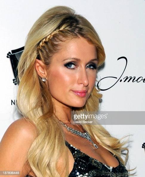 Paris Hilton arrives at the 1 OAK Las Vegas grand opening at The Mirage Hotel Casino on January 27 2012 in Las Vegas Nevada