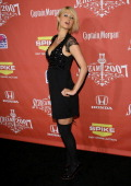 Paris Hilton arrives at the 2007 Spike TV Scream Awards at The Greek Theater on October 19 2007 in Los Angeles California