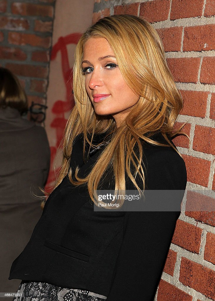 <a gi-track='captionPersonalityLinkClicked' href=/galleries/search?phrase=Paris+Hilton&family=editorial&specificpeople=171761 ng-click='$event.stopPropagation()'>Paris Hilton</a> arrives at the Alice + Olivia presentation during Mercedes-Benz Fashion Week Fall 2014 at The McKittrick Hotel on February 10, 2014 of New York City.