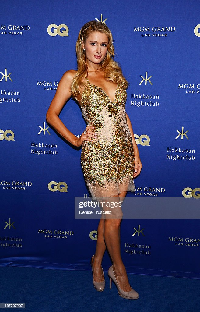 Paris Hilton arrives at the grand opening of Hakkasan Nightclub at the MGM Grand on April 27, 2013 in Las Vegas, Nevada.