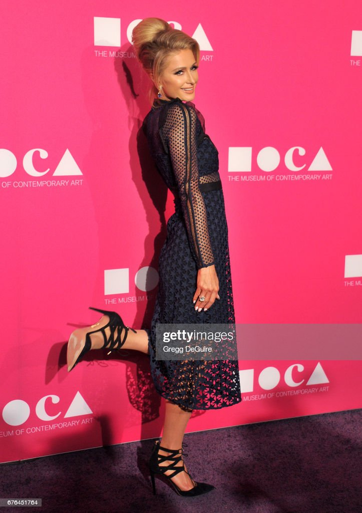 Paris Hilton arrives at the MOCA Gala 2017 at The Geffen Contemporary at MOCA on April 29, 2017 in Los Angeles, California.