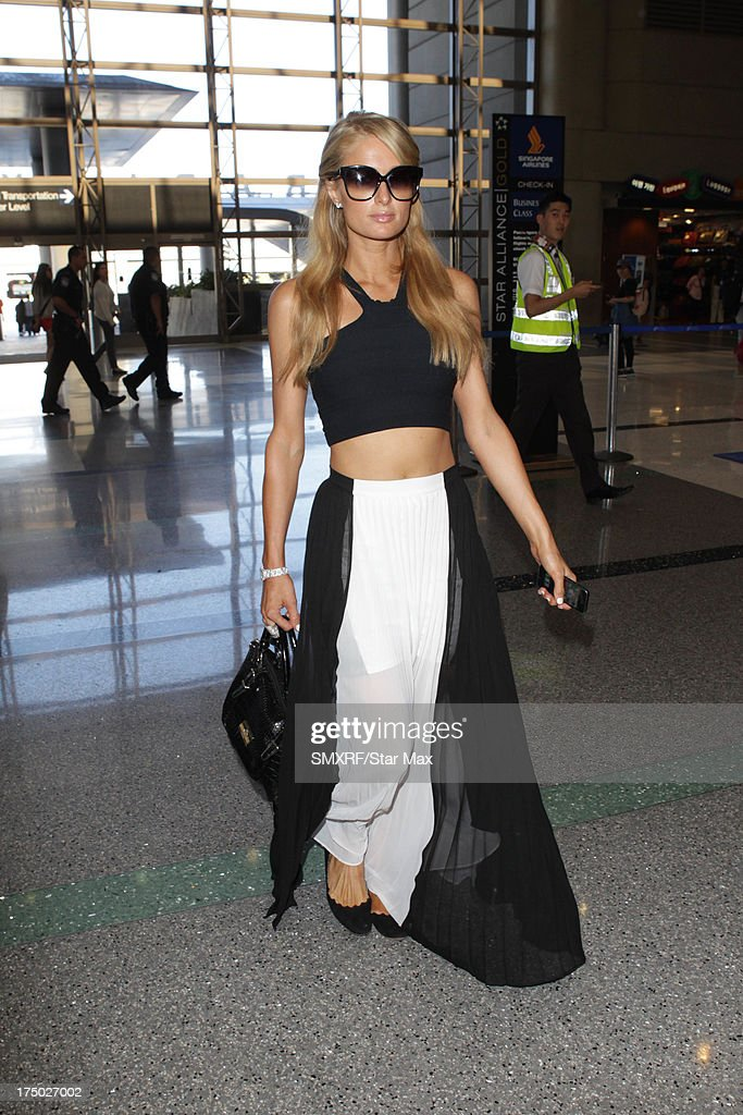 Paris Hilton as seen on July 29, 2013 in Los Angeles, California.