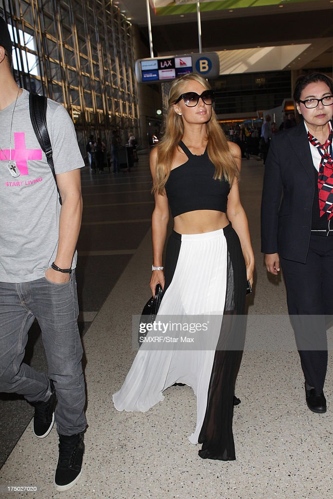 Paris Hilton as seen on July 29, 2013 in Los Angeles, California.