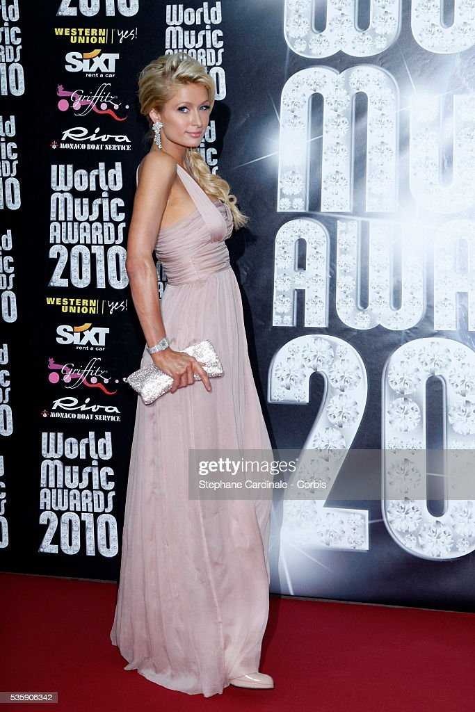 Paris Hilton at the 'World Music Awards 2010 - show' at the Sporting Club on May 18, 2010 in Monte Carlo, Monaco.