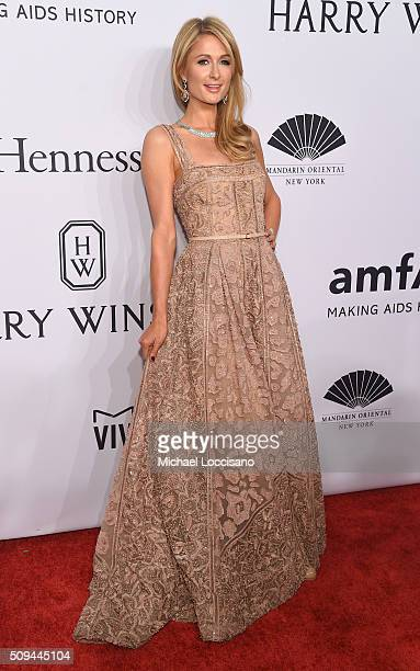 Paris Hilton attends 2016 amfAR New York Gala at Cipriani Wall Street on February 10 2016 in New York City