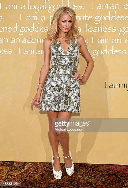 Paris Hilton attends Alice Olivia By Stacey Bendet Spring 2016 during New York Fashion Week The Shows at The Gallery Skylight at Clarkson Sq on...
