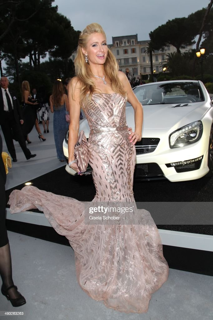 <a gi-track='captionPersonalityLinkClicked' href=/galleries/search?phrase=Paris+Hilton&family=editorial&specificpeople=171761 ng-click='$event.stopPropagation()'>Paris Hilton</a> attends amfAR's 21st Cinema Against AIDS Gala Presented By WORLDVIEW, BOLD FILMS and BVLGARI at Hotel du Cap-Eden-Roc on May 22, 2014 in Cap d'Antibes, France.