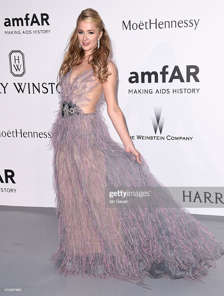 <a gi-track='captionPersonalityLinkClicked' href=/galleries/search?phrase=Paris+Hilton&family=editorial&specificpeople=171761 ng-click='$event.stopPropagation()'>Paris Hilton</a> attends amfAR's 22nd Cinema Against AIDS Gala, Presented By Bold Films And Harry Winston at Hotel du Cap-Eden-Roc on May 21, 2015 in Cap d'Antibes, France.