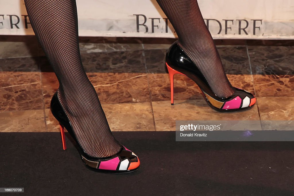 Paris Hilton (shoe detail) attends an evening hosted by Paris Hilton at The Pool at Harrah's Resort on May 4, 2013 in Atlantic City, New Jersey.