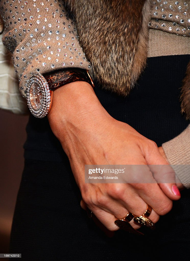Paris Hilton (jewelry detail) attends Day 2 of the Kari Feinstein Style Lounge on January 19, 2013 in Park City, Utah.