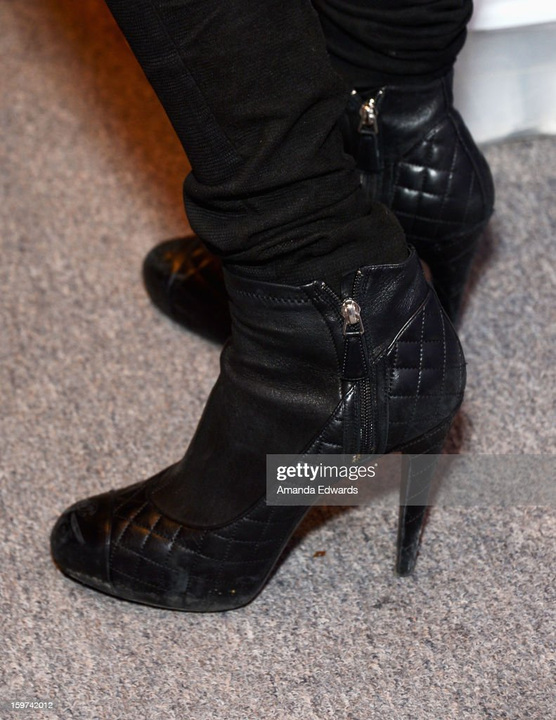 Paris Hilton (shoe detail) attends Day 2 of the Kari Feinstein Style Lounge on January 19, 2013 in Park City, Utah.