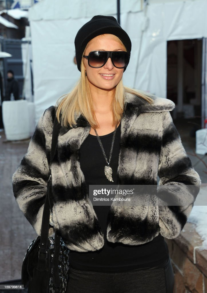 <a gi-track='captionPersonalityLinkClicked' href=/galleries/search?phrase=Paris+Hilton&family=editorial&specificpeople=171761 ng-click='$event.stopPropagation()'>Paris Hilton</a> attends Day 3 of Village At The Lift 2013 on January 20, 2013 in Park City, Utah.