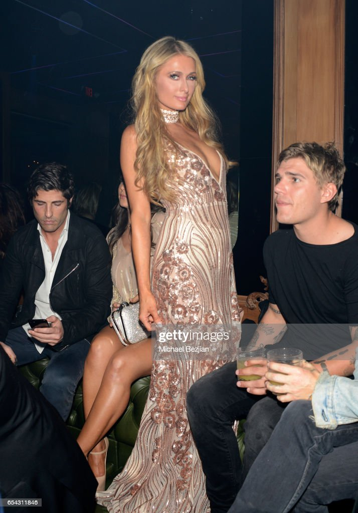 Paris Hilton attends day one of TAO, Beauty + Essex, Avenue + Luchini LA Grand Opening on March 16, 2017 in Los Angeles, California.