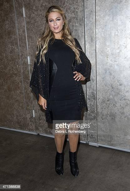 Paris Hilton attends DuJour Magazine's April Cover Celebration with Paris Hilton at PHD at the Dream Downtown on April 27 2015 in New York City