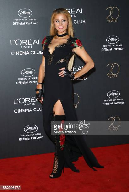 Paris Hilton attends Gala 20th Birthday of L'Oreal In Cannes during the 70th annual Cannes Film Festival at Martinez Hotel on May 24 2017 in Cannes...
