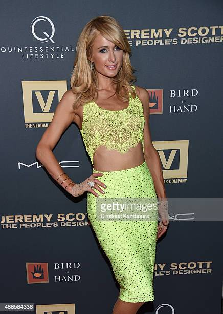 Paris Hilton attends 'Jeremy Scott The People's Designer' New York Premiere at The Paris Theatre on September 15 2015 in New York City