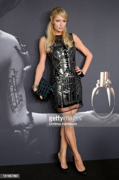 Paris Hilton attends Lady Gaga 'Fame' Eau de Parfum Launch Event at Guggenheim Museum on September 13 2012 in New York City