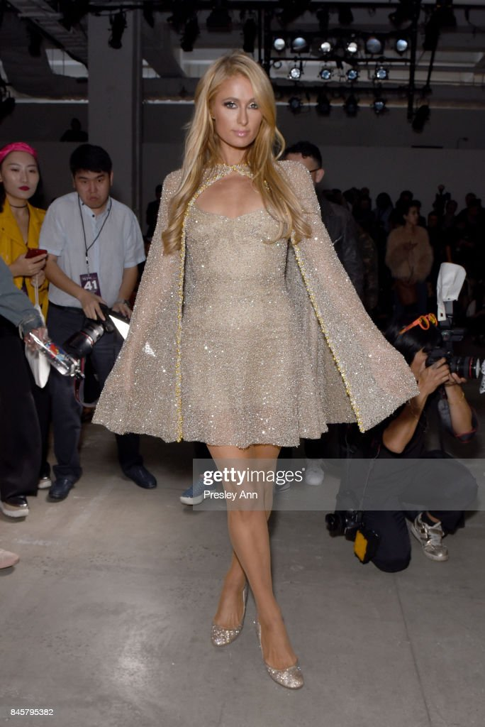 Paris Hilton attends Lanyu fashion show during New York Fashion Week: The Shows at Gallery 2, Skylight Clarkson Sq on September 11, 2017 in New York City.