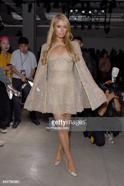 Paris Hilton attends Lanyu fashion show during New York Fashion Week The Shows at Gallery 2 Skylight Clarkson Sq on September 11 2017 in New York City