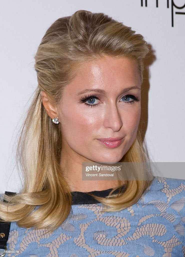 Paris Hilton attends OUT magazines celebration of LA fashion week with OUT fashion benefitting the AIDS Healthcare Foundation at Pacific Design Center on March 7, 2013 in West Hollywood, California.