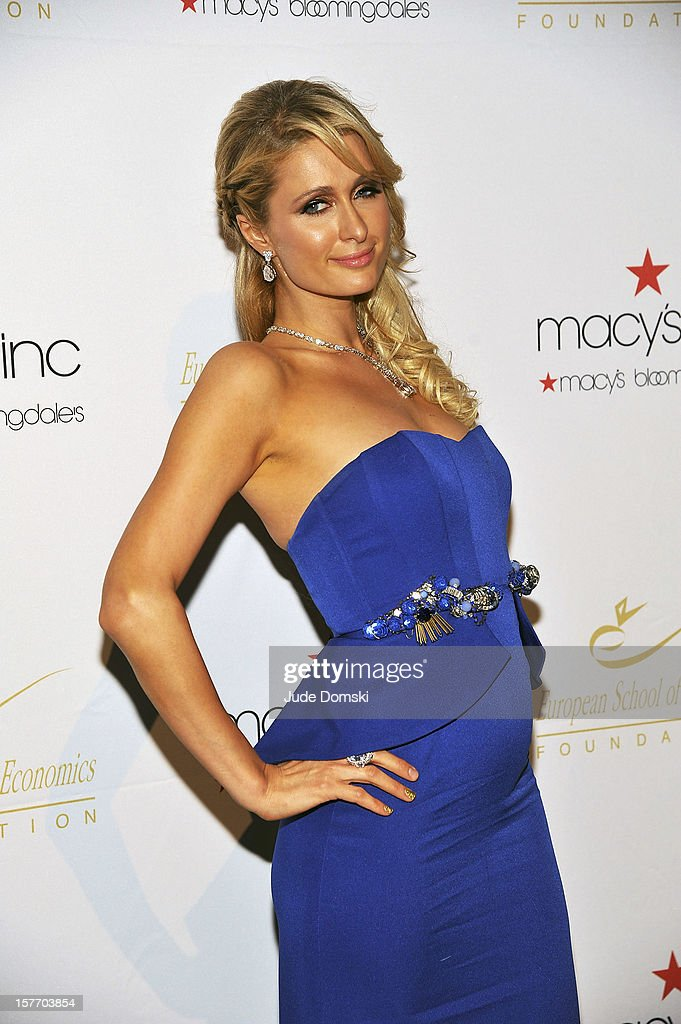 Paris Hilton attends the 2012 European School Of Economics Foundation Vision And Reality Awards at Cipriani 42nd Street on December 5, 2012 in New York City.