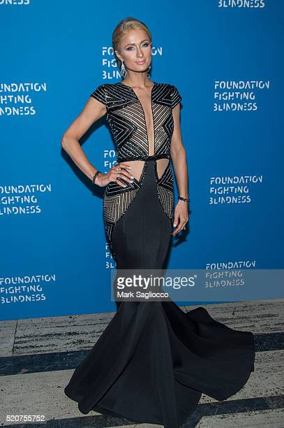 Paris Hilton attends the 2016 Foundation Fighting Blindness World Gala at Cipriani Downtown on April 12 2016 in New York City