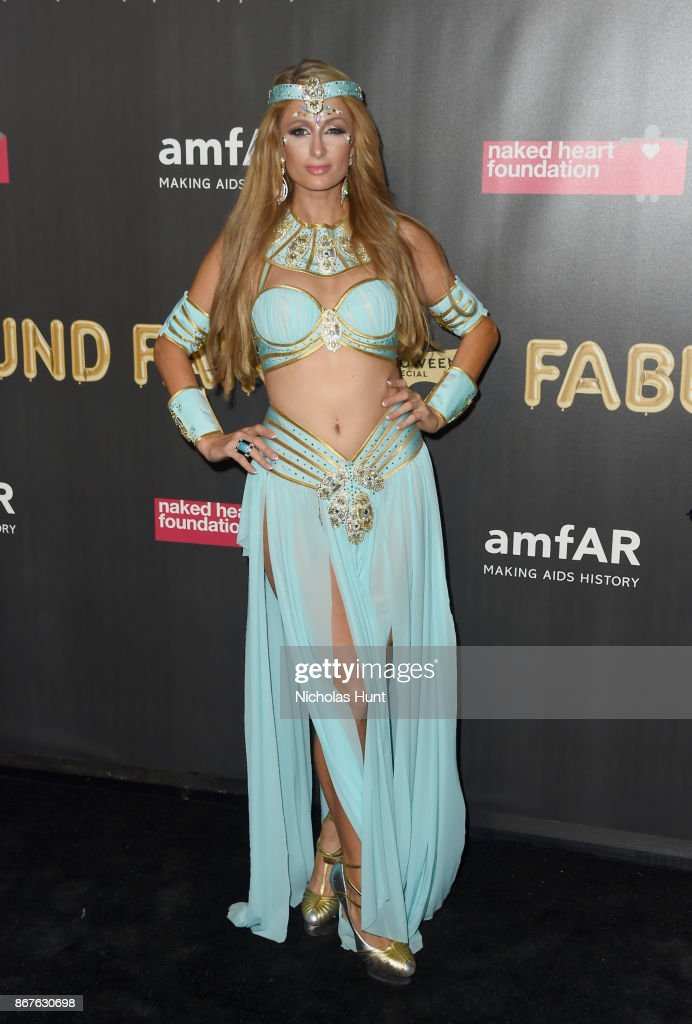 Paris Hilton attends the 2017 amfAR & The Naked Heart Foundation Fabulous Fund Fair at Skylight Clarkson Sq on October 28, 2017 in New York City.