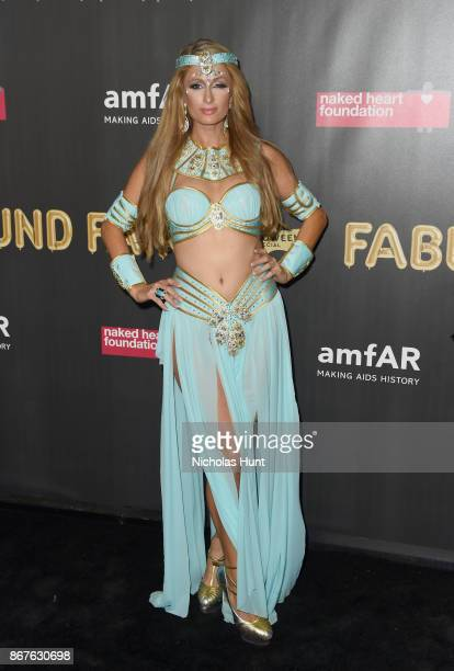 Paris Hilton attends the 2017 amfAR The Naked Heart Foundation Fabulous Fund Fair at Skylight Clarkson Sq on October 28 2017 in New York City