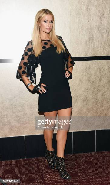Paris Hilton attends the 2017 Los Angeles Film Festival screening of 'What We Started' at the ArcLight Santa Monica on June 15 2017 in Santa Monica...