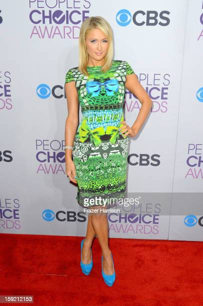 Paris Hilton attends the 39th Annual People's Choice Awards at Nokia Theatre LA Live on January 9 2013 in Los Angeles California